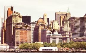 Картинка USA, United States, New York, Manhattan, NYC, New York City, Skyline, buildings, View, architecture, skyscrapers, …