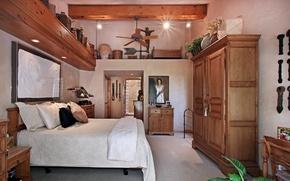 Картинка дизайн, фото, кровать, интерьер, подушки, спальня