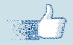Картинка коллаж, логотип, значки, facebook, icon, социальная сеть, i like you.