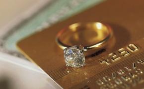 Картинка золото, кольцо, украшение, алмаз
