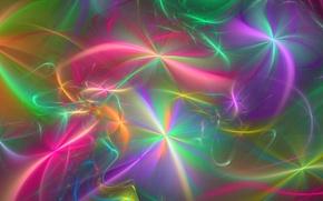Картинка лучи, абстракция, фон, обои, рисунок, звёзды, фрактал, пушинки