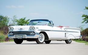 Обои chevrolet, bel air, impala, convertible, 1958, шевроле