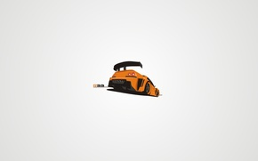 Картинка vector, tuning, art, carbon, orange, R33, sky line