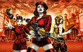 Обои Red alert 3, девушки, винтовка