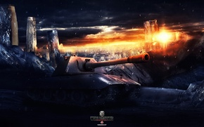 Картинка World of Tanks, Wargaming Net, FuriousGFX, E100