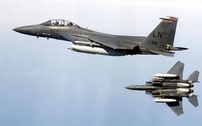 Картинка истребитель, Eagle, F-15E, ударный, Strike