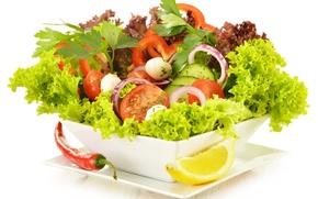 Картинка зелень, овощи, овощной салат, зеленый салат