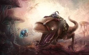 Картинка Morrowind, Nerevarine, guar, dunmer
