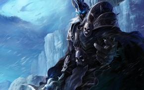 Картинка холод, лед, зима, меч, доспехи, warcraft, wow, world of warcraft, lich king, король лич, нортренд, …
