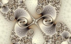 Картинка симметрия, узор, фрактал, линии, спираль
