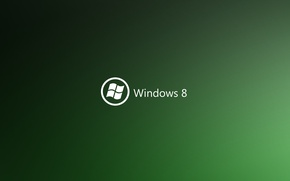 Картинка green, logo, windows8, sistem