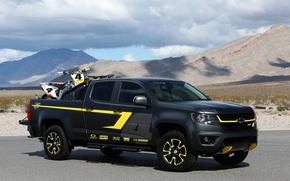 Картинка фото, черный, тюнинг, Chevrolet, автомобиль, 2014, Colorado Performance