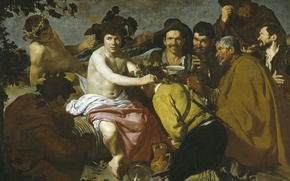 Картинка картина, мифология, Триумф Вакха, Диего Веласкес