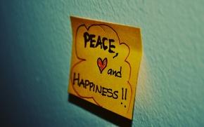 Обои настроения, сердце, записка, стикер, слова, фраза, mood