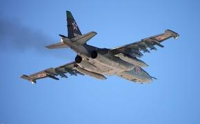 Картинка полет, Грач, Су-25, ВВС России, Su-25