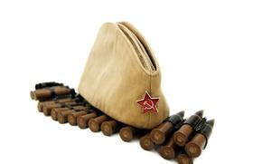 Картинка звезда, 9мая, день победы, пули, 1941-1945, пилотка