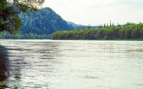 Картинка пейзаж, природа, река, горный, Алтай, бия