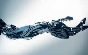 Картинка metal, cyborg, arm, robotics