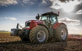 Картинка wallpaper, tractor, farming, 7726, masseyferguson