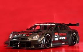 Картинка красный, фон, Nissan, GT-R, карбон, gt500, гоночная, nismo