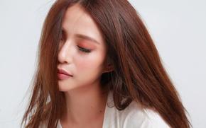 Картинка девушка, лицо, волосы, красотка, восточная