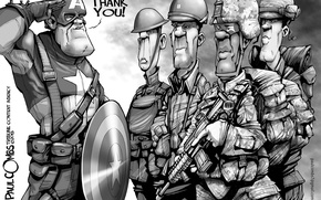 Обои thanks, Veterans' Day, Captain America, soldiers