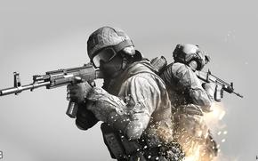 Картинка оружие, огонь, война, искры, солдат, battlefield, battlefield 4, wtv