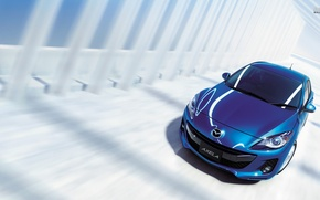 Картинка car, синий, Mazda, japan, blue, Axela
