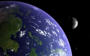 Картинка moon, planet, like Earth
