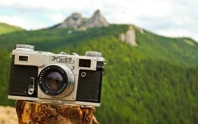 Картинка зелень, природа, фон, скалы, холмы, обои, камера, фотоаппарат, объектив, wallpaper, разное, широкоформатные, camera, background, полноэкранные, ...