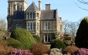 Обои Corsham, Великобритания, дом, сад, деревья, кусты, дизайн