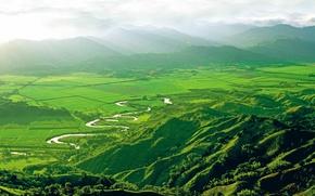Картинка COFFY COUNTRY, COLOMBIA, Valle de Cocora, горы, долина, река, Колумбия