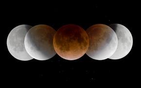 Картинка тень, Луна, затмение, умбра