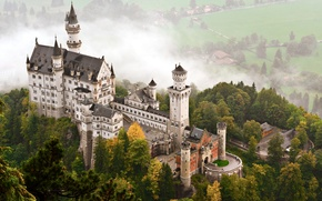Картинка замок, Германия, Бавария, Нойшванштайн, старинный, castle