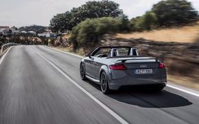 Картинка авто, Audi, кабриолет, вид сзади, Quattro, RS, TT