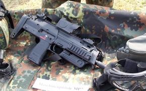 Картинка очки, оптика, камуфляж, пистолет-пулемёт, MP7A1
