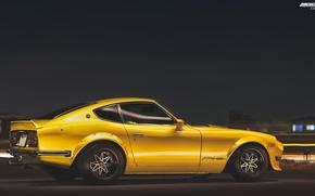 Обои car, wallpapers, nissan, datsun, 240z,  автомобиль