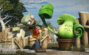 Картинка Plants vs Zombies, Pop Cap, Plants vs Zombies Garden Warfare, PvZ