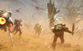 Картинка рисунок, драконы, арт, монстры, существа, битва, сражение, чудовища, Jose Daniel Cabrera