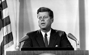 Картинка США, трибуна, Джон, John, Кеннеди, Kennedy, Фицджеральд, JFK, 35-й президент, Fitzgerald