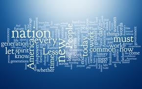 Обои generation, america, less, blue style, выражения, let, common, whether, nation, буквы, разное, текстуры, texture, голубой, ...