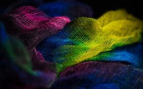 Картинка макро, цвет, ткань, текстиль