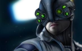 Картинка лицо, игра, полиция, арт, Cyberpunk 2077