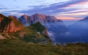 Картинка пейзаж, горы, природа, дымка, ущелье