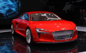 Обои e-tron, выставка, Audi