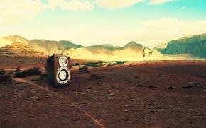 Обои креатив, живая сила, горы, музыка, ландшафт, камни