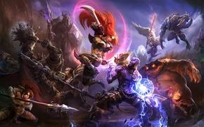 Картинка фентези, игра, битва, League of Legends
