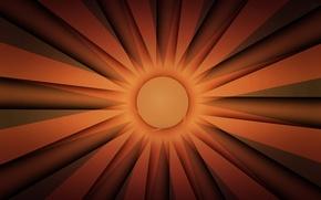 Обои солнце, лучи, свет, линии, полоса, круг
