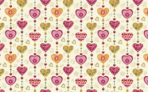 Картинка праздник, сердце, вектор, текстура, сердца, рисунки, сердечки, love, широкоформатные обои, обои на рабочий стол, hd …