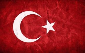Картинка красный, флаг, red, Турция, Turkey, Flag, ислам, islam